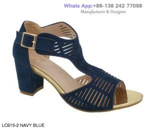 Les femmes talons robe haute bloc Lady Slingback chaussures sandales occasionnel