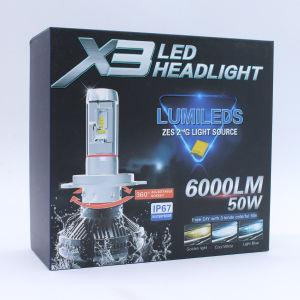 Bricolaje de temperatura de color 3000K 8000K sin ventiladores luz LED de 360 H11 6500K LED de alta potencia Lámpara de faro 9005