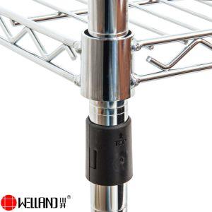 6 niveaux réglables populaire NSF métal chromé sur le fil d'Étagères étagère de rack de stockage avec les roues de 18 X 48 x H82