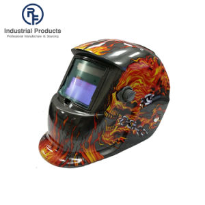 RF OEM 작풍 두개골과 Falmes 색칠을%s 가진 태양 공급 용접 헬멧