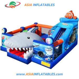 Comercial barato utilizado saltando castillo hinchable para niños / Fun City