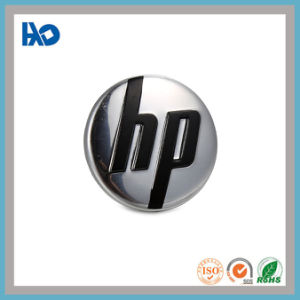 Custom Prata morrem em relevo o logotipo de corte de metal da placa de vinheta adesiva