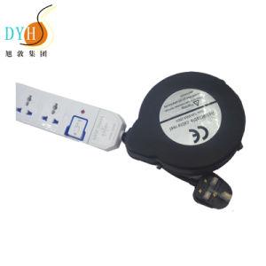 Cordon d'alimentation rembobineur UK Socket Extension escamotable enrouleur de câble avec fiche britannique