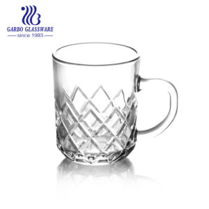 320ml transparents tasse à café tasse à cappuccino avec poignée (GB094413H)