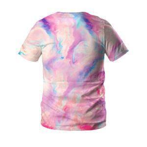 3Dデジタルの印刷のカップルはスリーブを付けられたTシャツをショートさせる