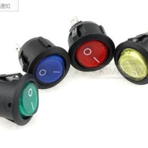 Mini precipitare rotondo inserita/disinserita rosso illuminato dell'automobile di Spst 12V dell'interruttore di attuatore del LED