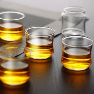 単一の壁50mlのホウケイ酸塩ガラスのコーヒー・マグのコップのティーカップ