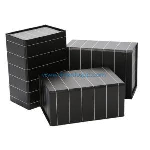 Usine noir mat Stockage magnétique pliable pliable papier Emballage cadeau emballé à plat