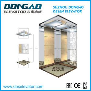 Elevatore dorato facente un giro turistico del passeggero di Vvvf di osservazione della Camera di vetro panoramica domestica della villa