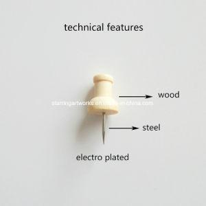 元のカラー23mmハンドルヘッド木製押しPin