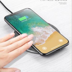 Fabric Scratch-Resistant 7.5W 10W Disc-Type Non-Slip cargador inalámbrico teléfono móvil para iPhone Samsung S9