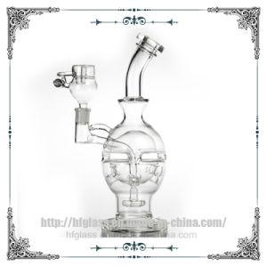 Nave nodriza Pipa Fab huevo botella lavagases regadera Perc plataformas petrolíferas del tubo de agua de cristal con panal el tazón y una cuchara de Miel
