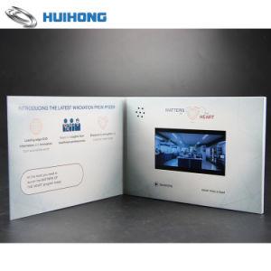 Lâmina prateada Estampagem Brochura Cartão comemorativo de vídeo