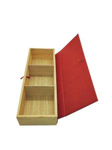 Diseño retro natural de la caja de regalo de madera Caja de té