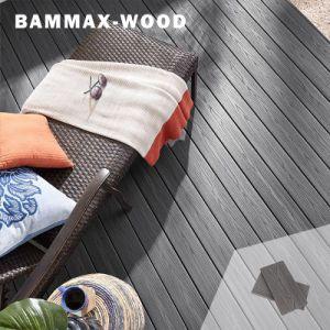 En plein air anti UV longue durée de l'apparence en bois naturel WPC circulaire Composite Decking de plancher