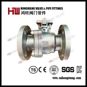 Industriel en acier inoxydable Manuel américaine ANSI 2PC haute plate-forme clapet à bille à embase (HW-BV 2001)