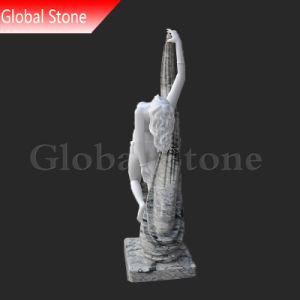 Signora graziosa di pietra bianca personalizzata Female Statue (GSS-229) di Dancing