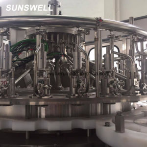 Enchimento a quente Sunswell enchimento de aerossóis de alumínio máquina de embalagem de nivelamento