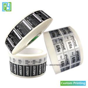 習慣によって型抜きされるビニールPVCペーパーロゴのバーコードラベルのアルミニウム付着力のステッカーの印刷