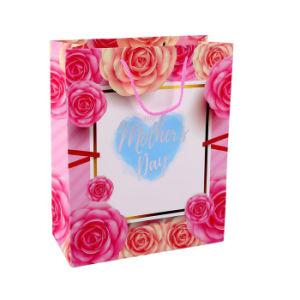 Розовый горячей штамповки логотип в День Матери бумажных мешков для пыли