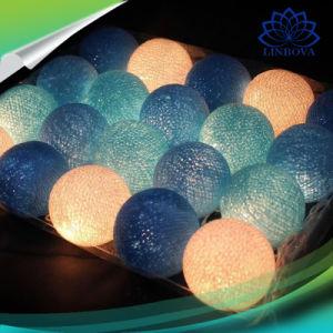 Bola de algodón de LED de luz de la cadena de la luz de hadas para interiores, decoración de dormitorio en vivo