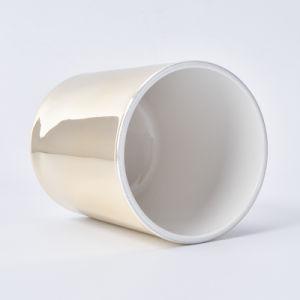 熱い販売は10ozガラス蝋燭の瓶を金属で処理した