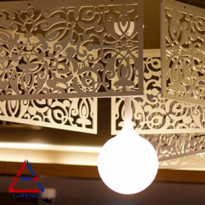 La pantalla de Arte Decorativo de techo de metal perforada de aluminio
