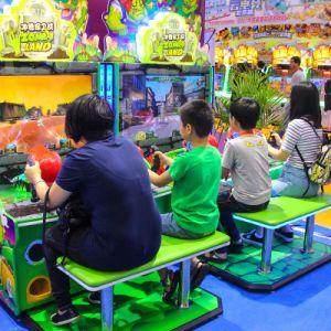 新しいデザインビデオゾンビの土地戦いレーザー銃の射撃の子供の公園のアーケード・ゲーム機械