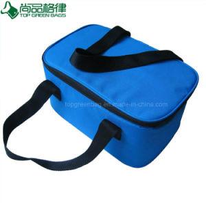 Isolation écologique polyester bleu promotionnel sac à lunch pour pique-nique du refroidisseur