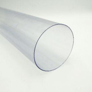 주문을 받아서 만들어진 명확한 플라스틱 밀어남 PVC 엄밀한 둥근 관