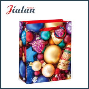 승진 형식에 의하여 인쇄되는 크리스마스 선물 패킹 쇼핑 운반대 종이 봉지