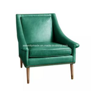 贅沢な居間のビロードか革によって装飾されるTillieの肘掛け椅子のラウンジチェア