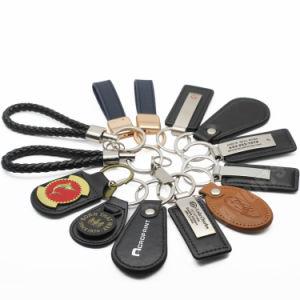 도매 대량 Handmade 주문 유명한 카드 차 로고 진짜 PU 가죽 차 상표 로고 Keychain
