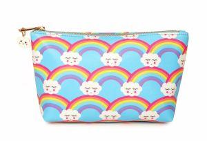 Lady Fashion Rainbow et peinture de Cloud Computing Cosmetic sac à main