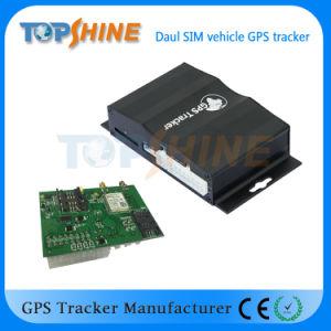 Doble cámara doble tarjeta SIM GPS Tracker Seguimiento Global con los sensores de choque