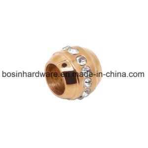 Branelli di cristallo del distanziatore dell'acciaio inossidabile dell'oro della Rosa
