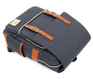 Gris personnalisé de style japonais toile sac à dos pour ordinateur portable de loisirs de l'école