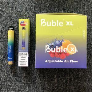 2020 nueva venida calientes al por mayor Venta de dispositivo desechable de flujo de aire ajustable Buble XL 1500 inhalaciones Vs flujo Puff