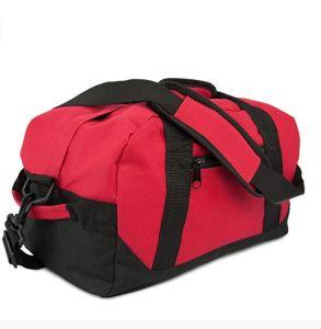 "Poliéster de dos tonos 14"" un pequeño gimnasio Duffle Bag, Rojo"