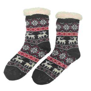Mesdames les filles de l'hiver chaud floue de câble moelleux de tricot confortable maison Salon Slipper Chaussettes de couchage
