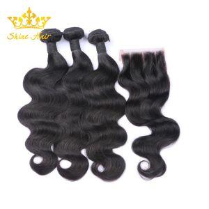Le vison vierge brésilien Cheveux humains Extension de l'ensemble du corps d'onde de cheveux