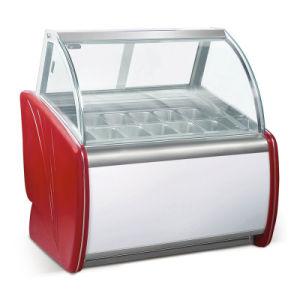 mostrador de exposición/Helados Gelato vitrina refrigerador para supermercado