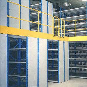 2 niveles Entrepiso Rack con el depósito de almacenamiento