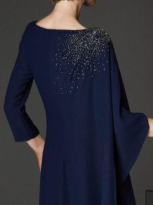 La coutume de faire Mesdames robe de mariée en mousseline perlée mère 3179