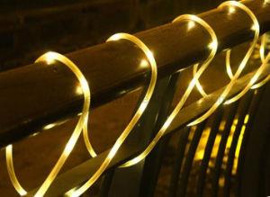 Conte de Noël blanc chaud décoratif à l'extérieur de la corde de feux à LED