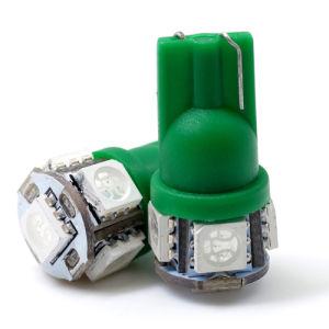 5PCS SMD5050 Auto bombilla LED Lámpara de coche de alquiler de bombilla LED (T10-WG-005Z5050)