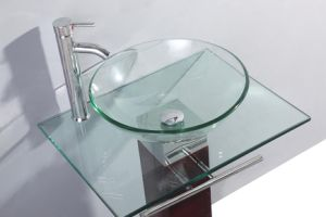 Bacia de vidro transparente moderna (TB017)