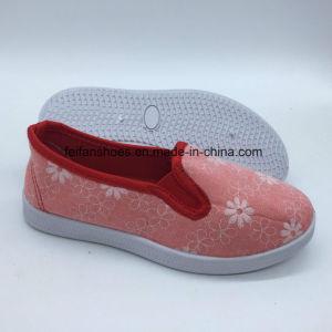 Zapatos de lona de inyección de último diseño de zapatos de ocio (ZL0425-7)