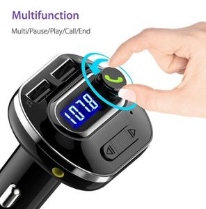 Caricatore mobile dell'automobile del veicolo del trasmettitore del giocatore FM di T19 Bluetooth V4.1 MP3