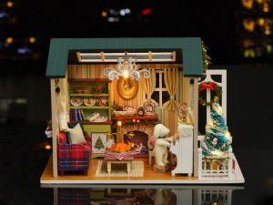 Giocattolo miniatura Z-009 dei bambini del regalo di natale della Camera di bambola di Cuteroom DIY